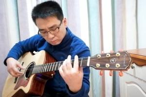 《伴随着你》吉他指弹视频_《天空之城》片尾曲_吉他指弹六线谱_失物森林