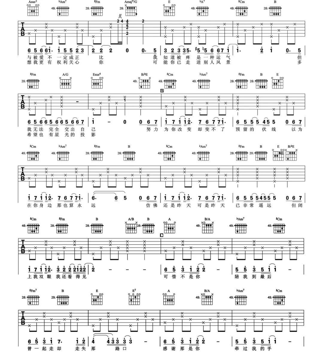 吉他派《可惜不是你》吉他谱-2