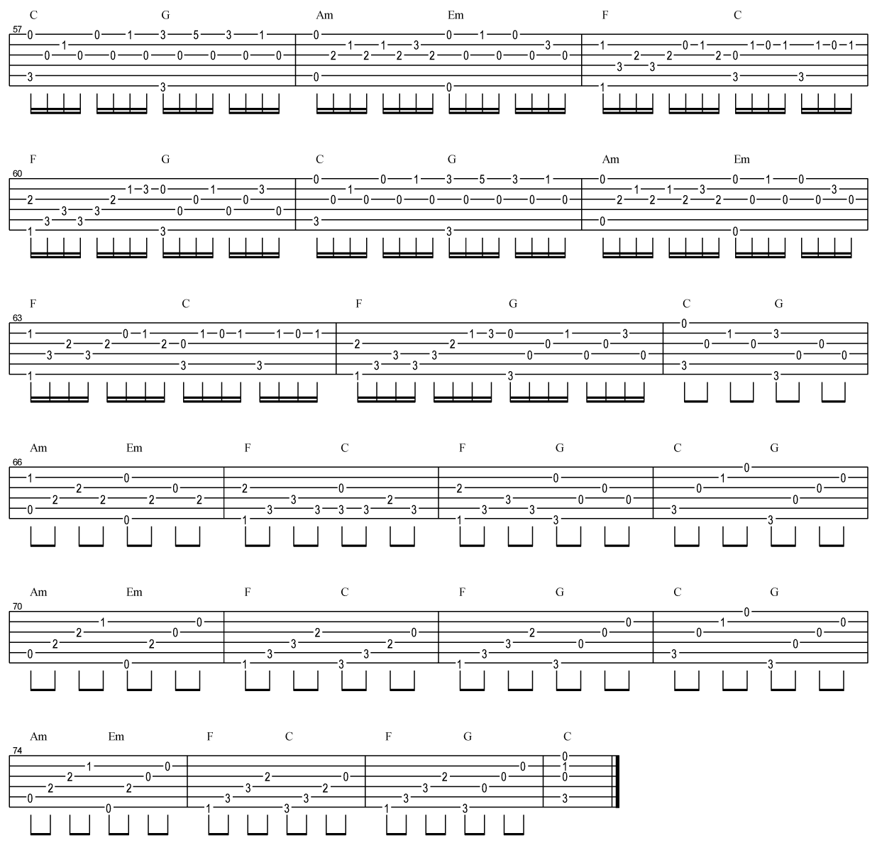 吉他派《卡农》吉他谱-3