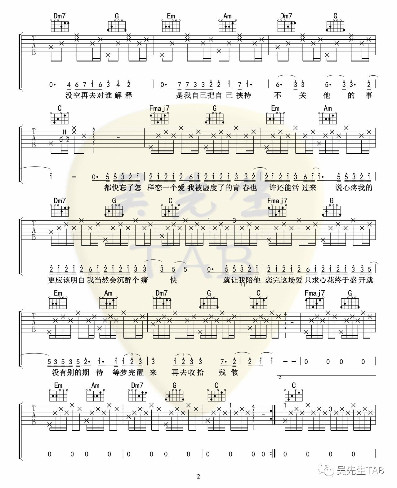 吉他派大眠吉他谱-2