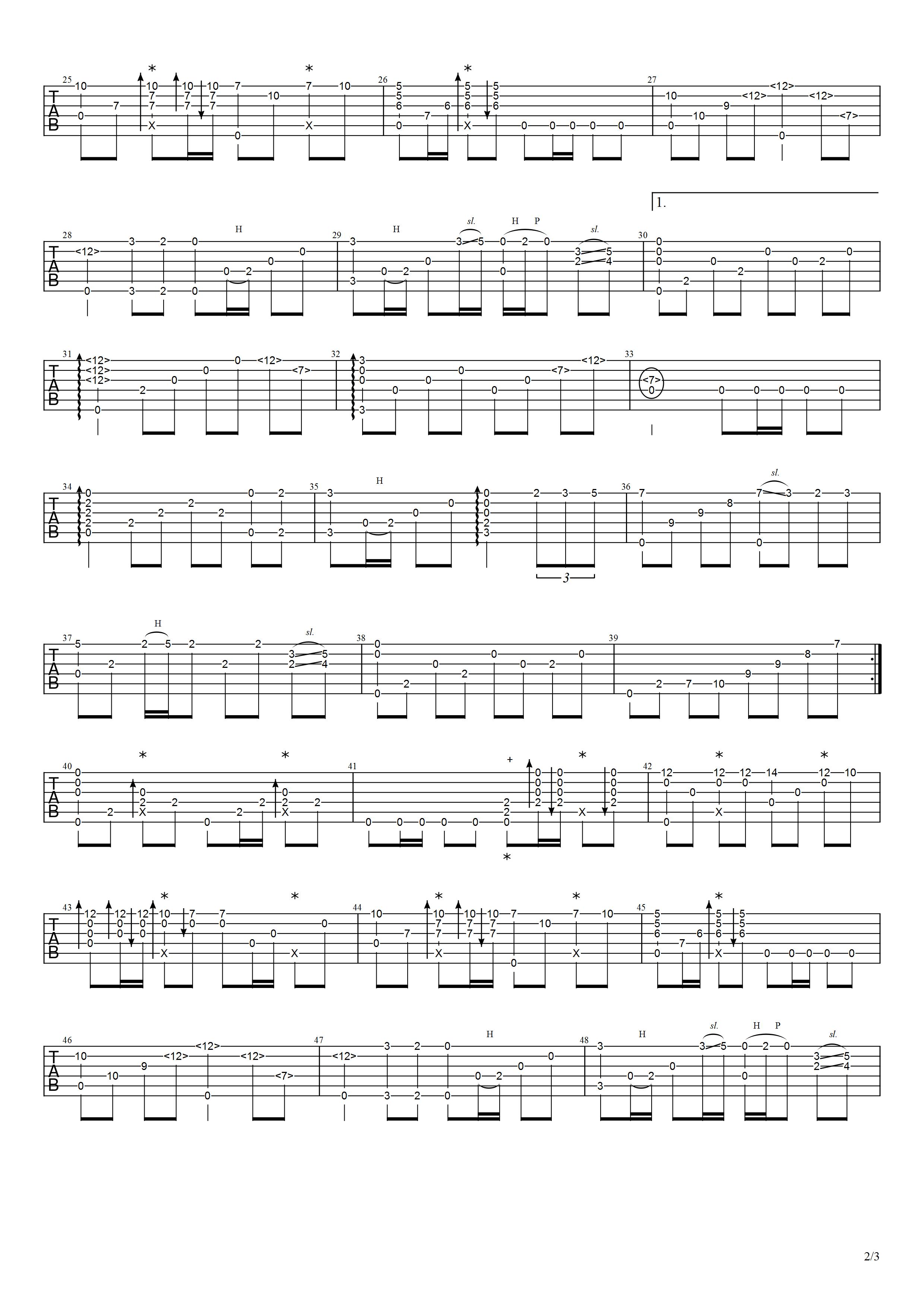 吉他派《梦驼铃》吉他谱-2