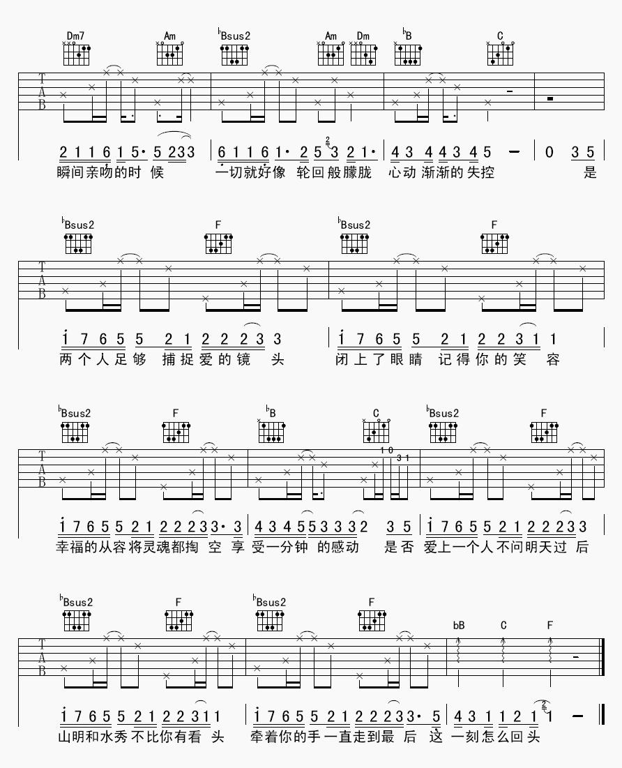 吉他派《明天过后》吉他谱-2