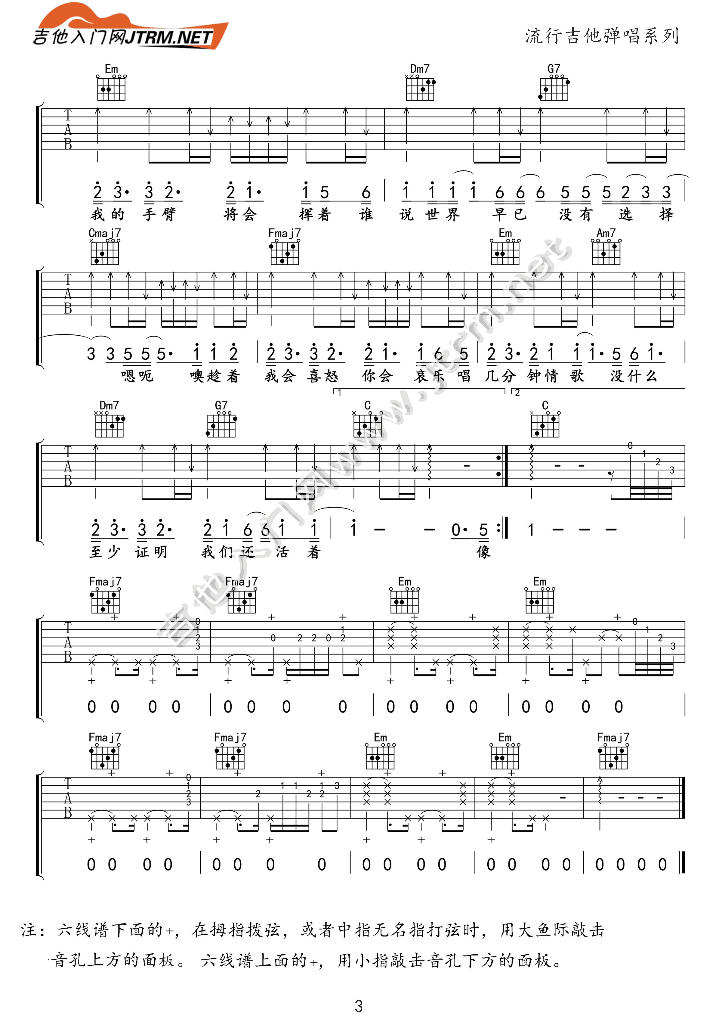 吉他派《模特》吉他谱-3