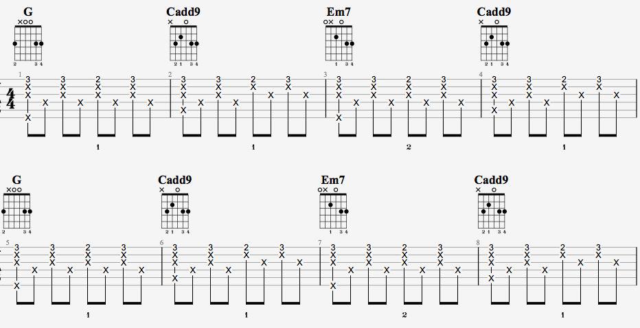 吉他派天后吉他谱进阶版-1