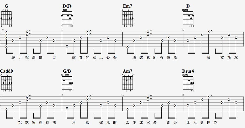 吉他派天后吉他谱进阶版-2