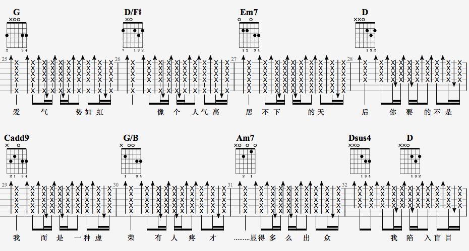 吉他派天后吉他谱进阶版-4