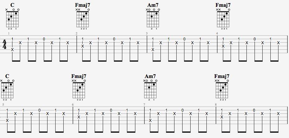 吉他派天后吉他谱简单版-1