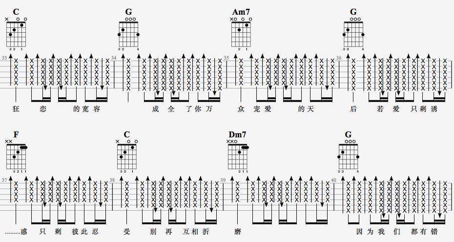 吉他派天后吉他谱简单版-5