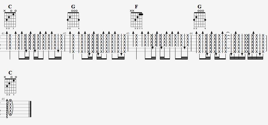 吉他派天后吉他谱简单版-6