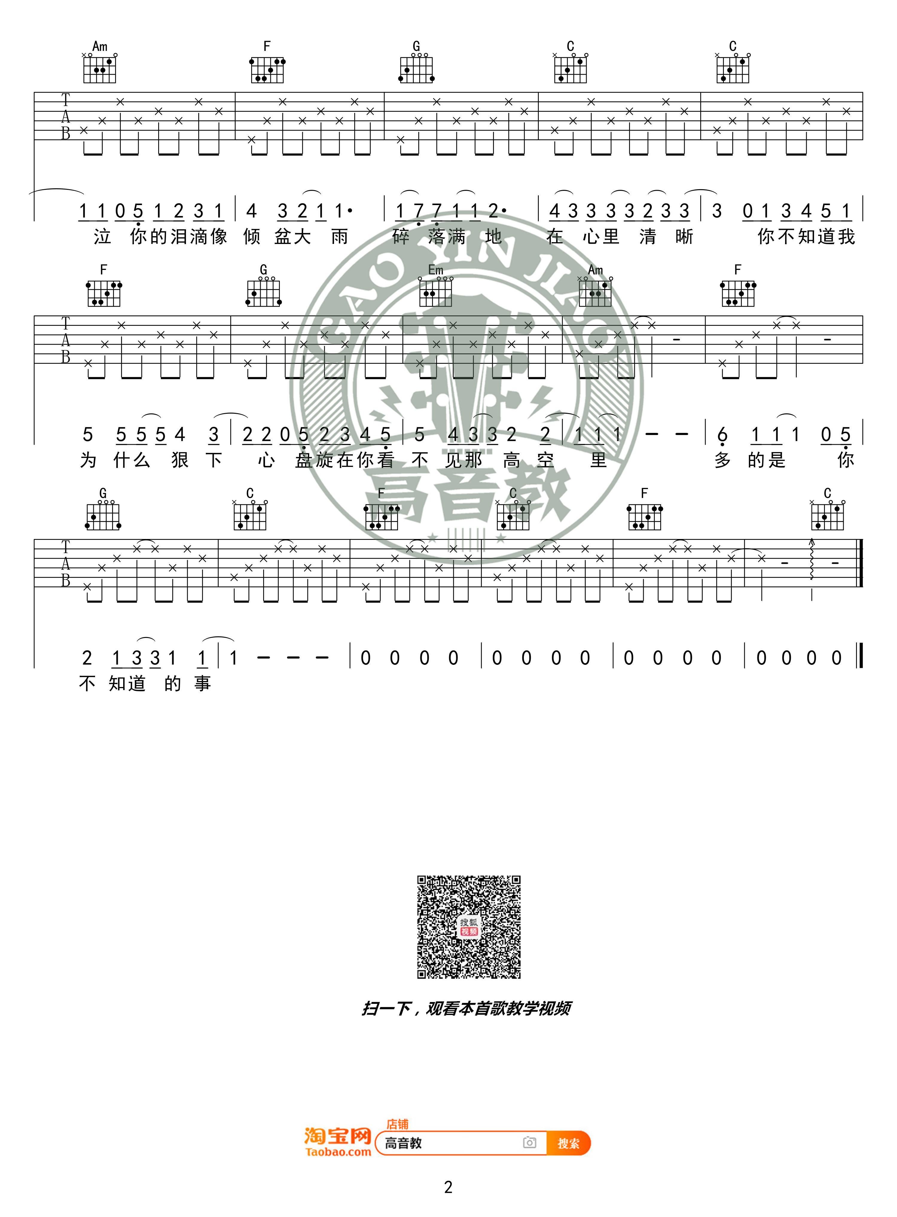 吉他派你不知道的事吉他谱-2