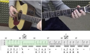 《男儿当自强》吉他谱_指弹视频教程_C调吉他谱