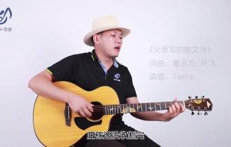 父亲写的散文诗吉他谱_吉他弹唱教学视频讲解_C调精编版吉他谱